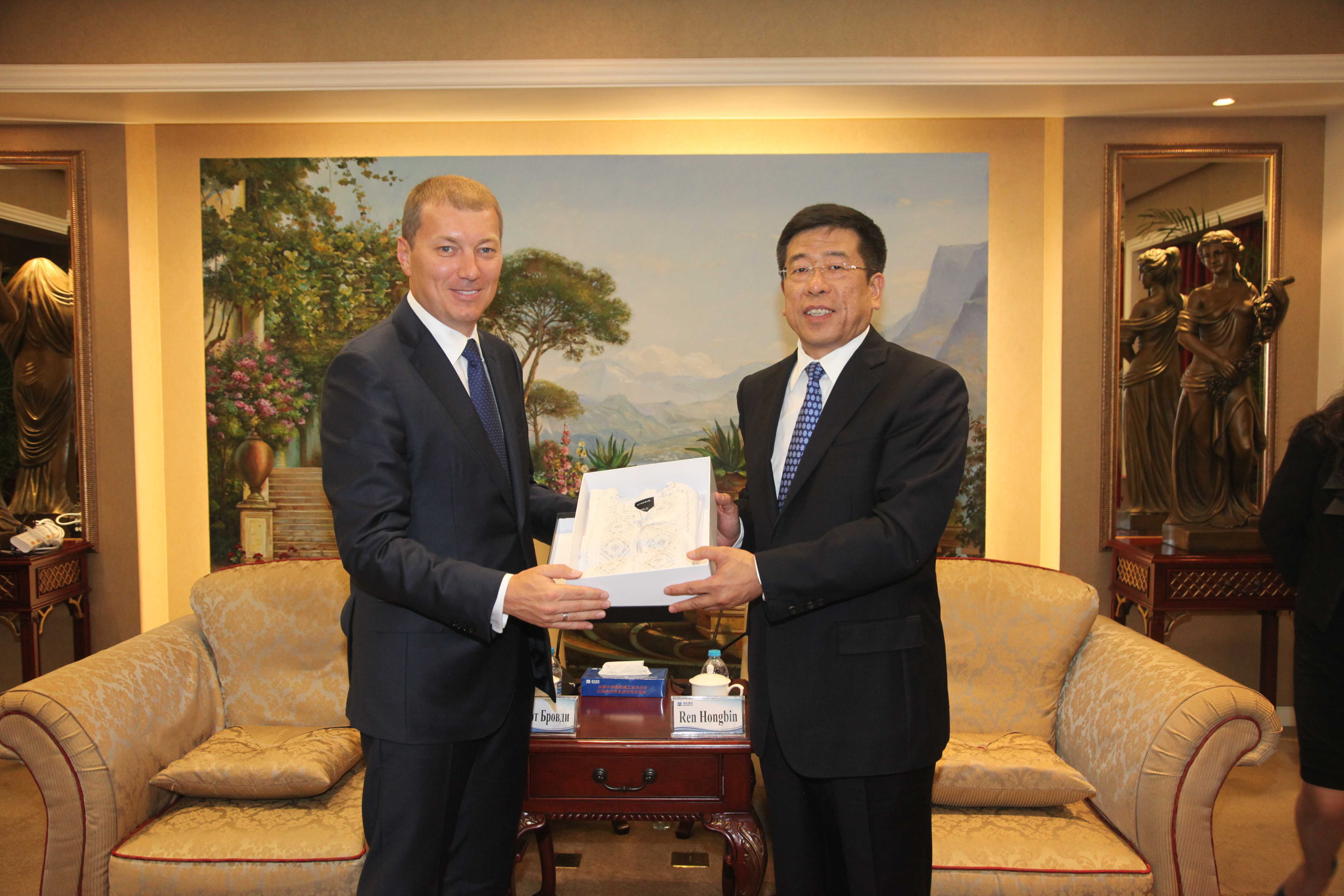 The official  meeting of the Ukrainian-Chinese business Council's co-chairmen took place