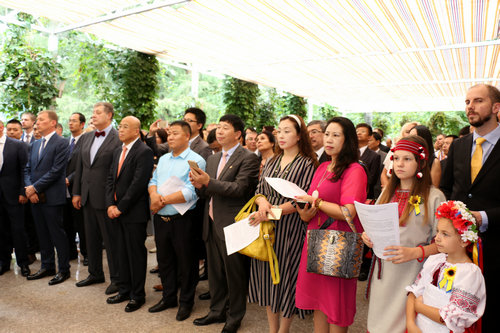 Delegation of the Joint Ukrainian-Chinese Business Council Celebrated Independence Day together with the Ukrainian Community of Beijing